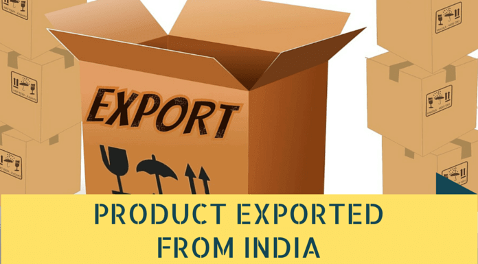 List Of Products Exported From India Export List