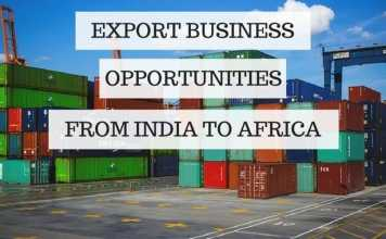 Export to Africa from India