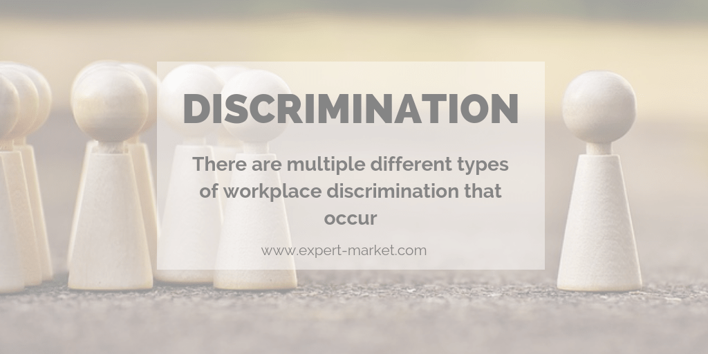 There are multiple different types of workplace discrimination that occur in the United States