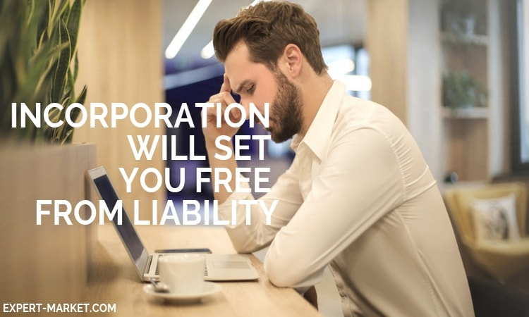 you need to incorporate your business and it will set you free from liability in the UK and USA